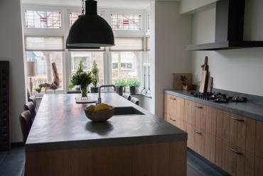 Massief eiken keuken met PITT cooking Hardinxveld-Giessendam
