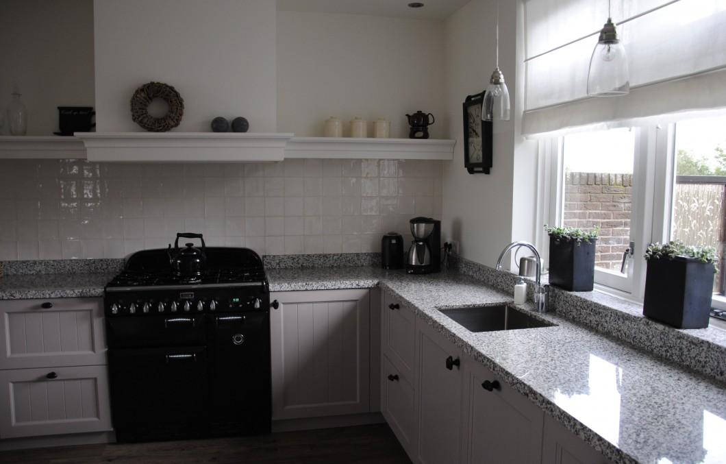Landelijke keuken met Falcon fornuis in Alblasserdam