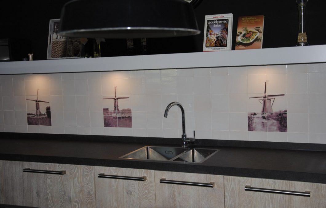 Houten keuken white wash