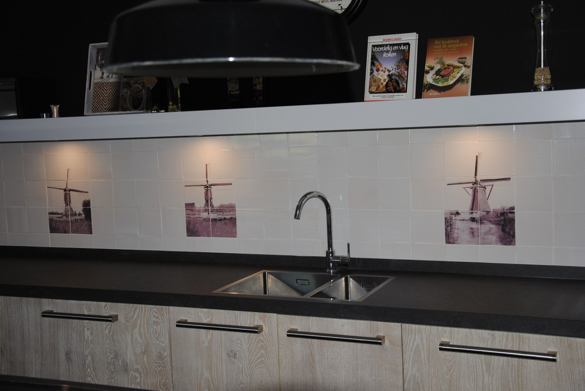Houten keuken white wash in groot ammers   keukenhof sliedrecht