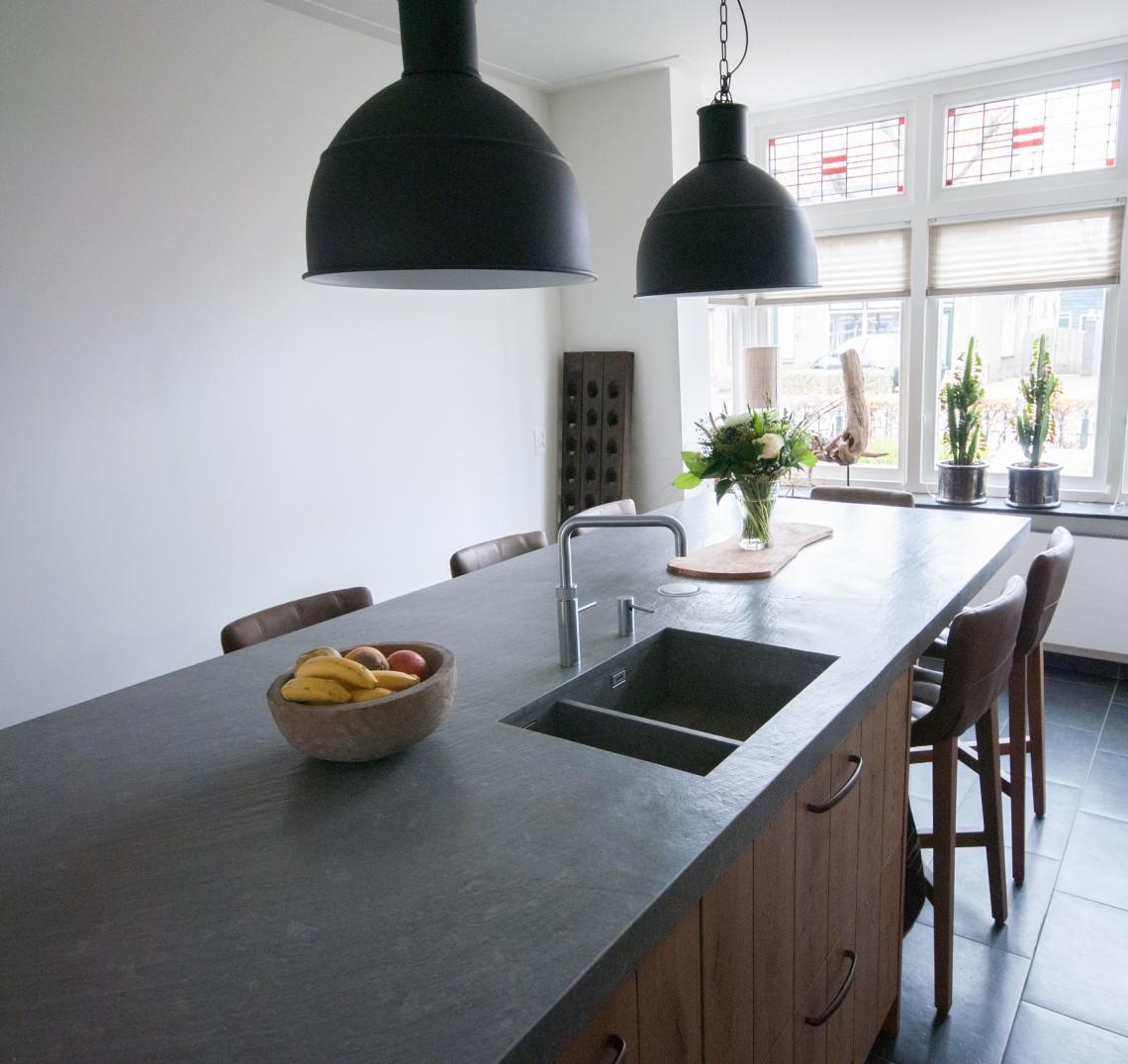 Massief eiken keuken met pitt cooking in hardinxveld giessendam ...