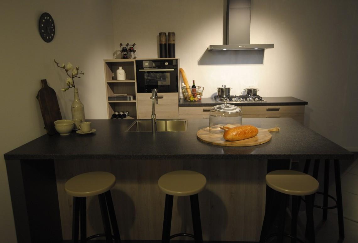 Showroom keuken met schiereiland keukenhof sliedrecht